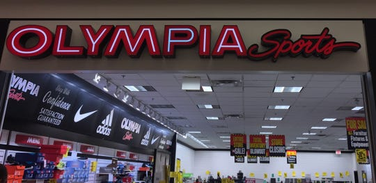 Everything must go at Olympia Sports at the University Mall in South Burlington on Jan. 6, 2019.