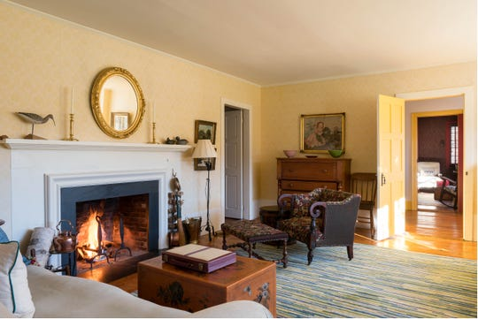 The circa 1787 house has multiple fireplaces.