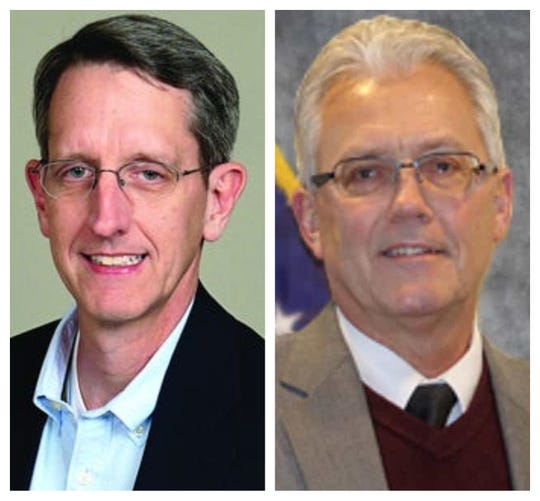 Clermont County commissioner GOP primary candidates: Chris Hicks, left, and David Painter