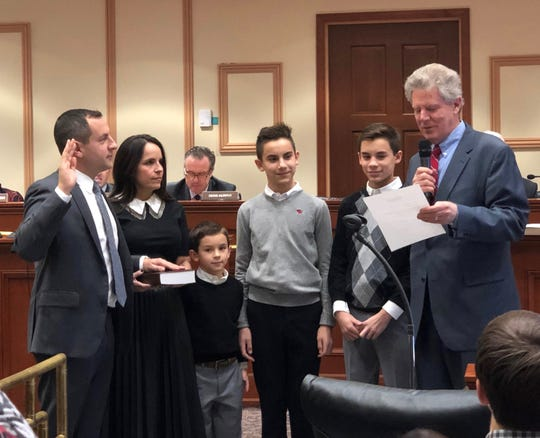 Metuchen Mayor Jonathan Busch was sworn in to his first four-year term of office on Jan. 1.