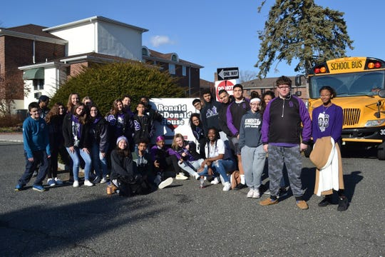 Old Bridge winter sport student-athletes volunteered at the Ronald McDonald House of Long Branch