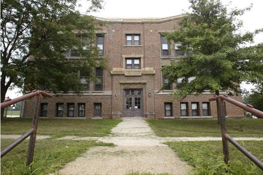 From 2002: The original section of Douglas Elementary School, which faces East 38th Street.