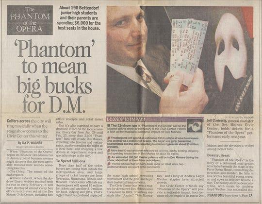 "1997. ""The Phantom of the Opera"" story."