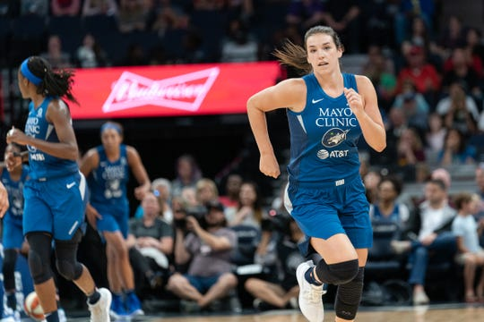Former Iowa State star Bridget Carleton signed with the WNBA's Minnesota Lynx late last season after being cut by the Connecticut Sun.