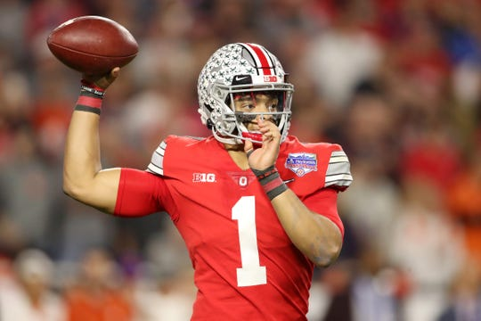 Oct. 17: Ohio State at Michigan State. Quick fact: QB Justin Fields threw 41 TDs against 3 INTs in his first season as a starter.