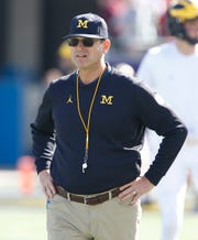 Michigan coach Jim Harbow at the Citrus Bowl against Alabama, January 1, 2020 in Orlando.