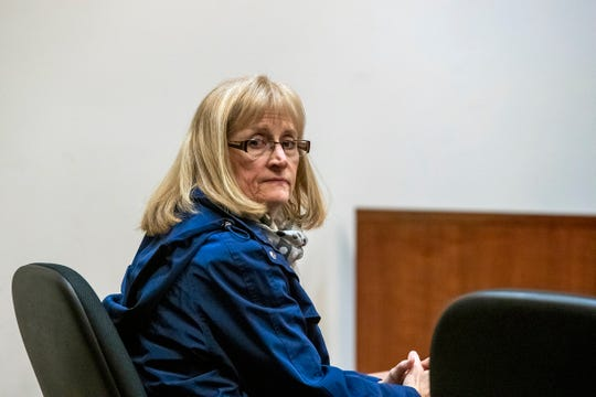 Barbara Chance, mother of Jared Chance, who was found guilty in the 2018 slaying and dismemberment of Ashley Young, appears at the Kent County Courthouse in Grand Rapids, Mich., Jan. 6, 2020.