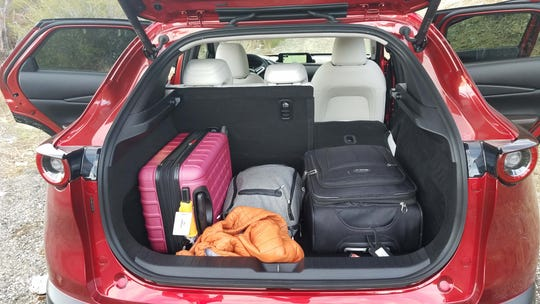 The cargo space of the 2020 Mazda CX-30 is smaller than some rivals, but the wide rear opening makes loading a cinch.