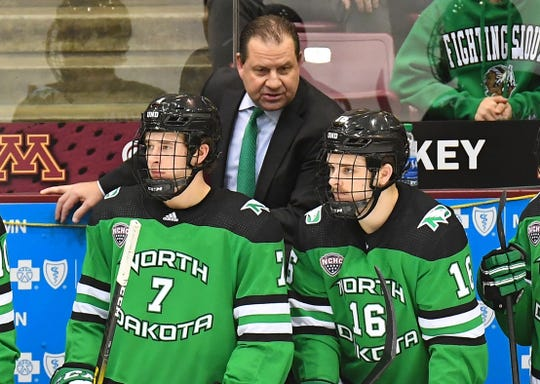 Brad Berry is the coach of the No. 1-ranked North Dakota Fighting Hawks.