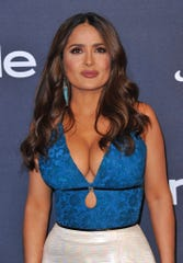 Salma Hayek arrives at the InStyle and Warner Bros. Golden Globes afterparty on Sunday, Jan. 5, 2020, in Beverly Hills. Hayek has said Weinstein sabotaged her career after she rebuffed a series of sexual advances.
