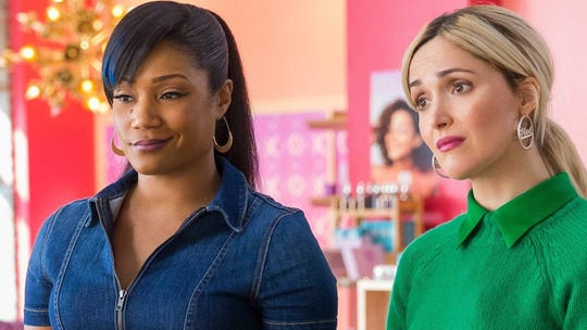 "Tiffany Haddish and Rose Byrne in ""Like a Boss."""