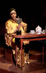 """Indigo Colbert as Constance in """"The Puppeteer"""" at the Detroit Rep Jan. 9 - Mar.15."""