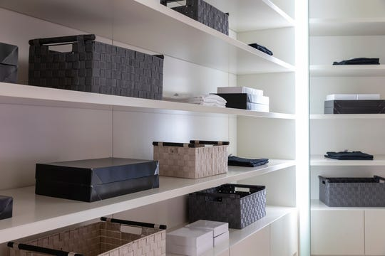 Bins and baskets help create order and organization. (Design Recipes/TNS)