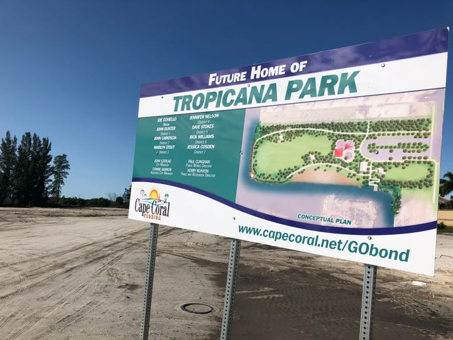 Tropicana Park, one of several planned to be developed in Cape Coral with funding approved in a 2018 bond referendum, will undergo some changes in design.  The Cape Coral City Council made the changes that included addiong 40,000 square feet along Old Burnt Store Road, and regaining plans for crew racing facility over the objection of some neighbors.
