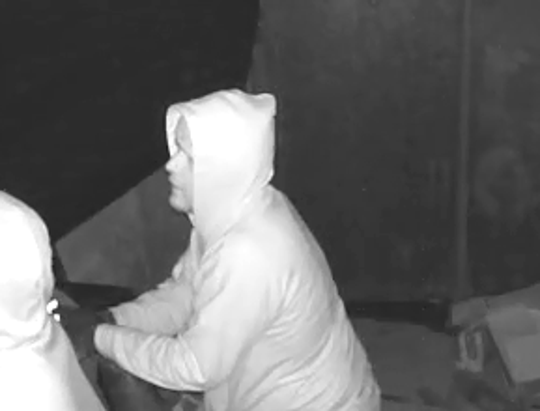 The sheriff is seeking assistance finding two suspects involved in a robbery in a construction trailer in the village of Bellevue.