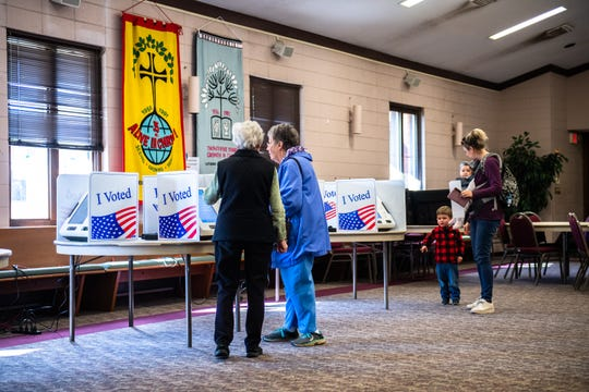 Voters cast their votes in the Greenville county sheriff Republican primary election at Lutheran Church of our Saviour on Wade Hampton Boulevard Tuesday, January 7, 2020.