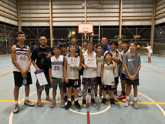 The Sinajana Rockers were crowned the middle school competitive division champions in the 4th Holiday Hoops Youth Basketball Tournament, sponsored by the Sinajana Mayor's Office, after defeating the Island Wolves 30-27.