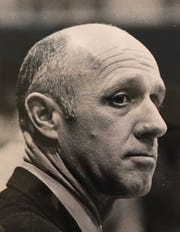 Keith Dougherty is shown coaching during the 1971 state championship game.