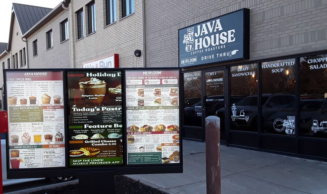 The new Java House location along Highway 965 in North Liberty features the local chain's first drive-through window.