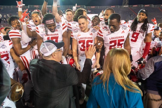 Louisiana Ragin Cajuns take on the Miami University Redhawks in the Lending Tree Bowl in Mobile, AL.  Monday, Jan. 6, 2020.