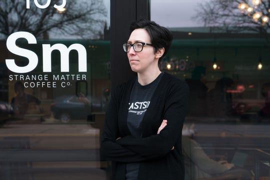 Cara Nader, owner of Strange Matter Coffee in Lansing.