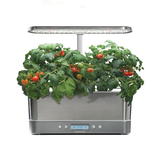 Bring the outdoors inside with the AeroGarden Harvest Elite Slim.