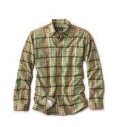 Orvis men's flannel provides casual warmth.