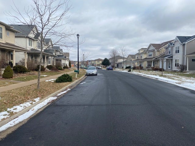 The Menomonee Falls Village Board on Jan. 20 unanimously approved to recommend dissolving  the R-7 zoning ordinance to the plan commission. The R-7 zoning district allows single-family homes on lots with a minimum width of 40 feet and a minimum area of 4,000 square feet. The minimum home size in the R-7 district is 1,500 square feet. This photo shows a Sun Prairie housing development with similar zoning.