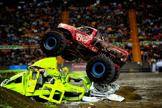 Wadded Up is one of five monster trucks that'll be leaping, racing and crushing Saturday during Monster X Tour at Garrett Coliseum.