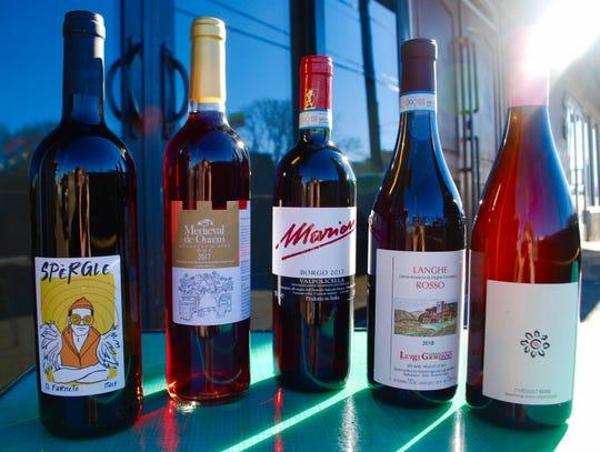 A selection of natural wines at Setsun.