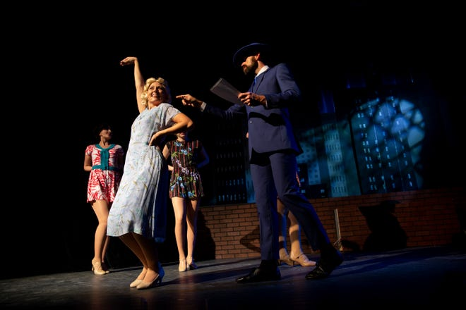 Noel Konken, left, dances during a dress rehearsal for the musical Wonderful Town at the G&L Theatre at the Community School of Naples on Monday, January 6, 2020.
