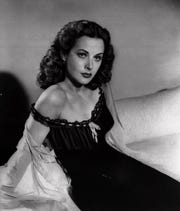 Actress Hedy Lamarr is shown in this 1946 file photo. Lamarr was an Austrian-born inventor and actress whose exotic glamour and sex appeal sparked a string of hit films of the 1930s and '40s,