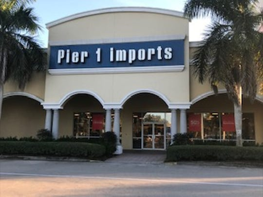 A view of the Pier 1 Imports store at Granada Shoppes in North Naples on Jan. 7, 2020.
