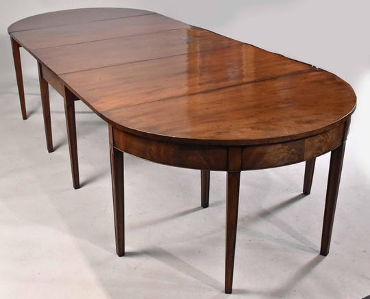 """The Eisenhower, """"D-Day"""" table is shown here fully extended is just over 9 feet long. It goes on auction Jan. 15."""