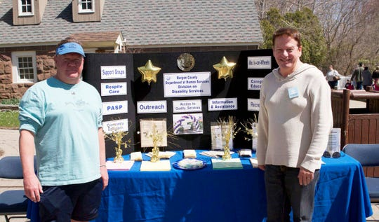 Jim Thebery, right, at the 2015 Autism Awareness Day at Van Saun Park with Craig Barden.
