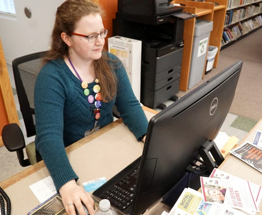 Librarian Amelia Yunker is hoping to get the Salem South Lyon District Library's microfiche files back online for patrons to look at.