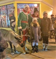 A live reindeer was used during Plymouth's Mistletoe Market on Dec. 5.