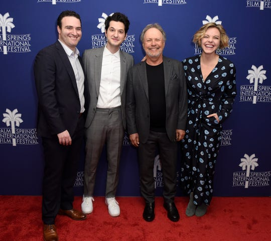 "Director Matt Ratner and actors Ben Schwartz, Billy Crystal and Eloise Mumford attend a screening of ""Standing Up, Falling Down"" at the 31st Annual Palm Springs International Film Festival on January 6, 2020 in Palm Springs, California."