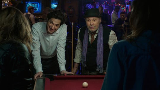 "A photo from the movie ""Standing Up, Falling Down"" starring Ben Schwartz (left) and Billy Crystal."