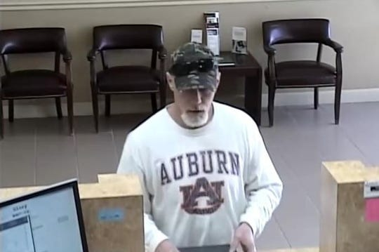 Authorities have released this photo of a man who is accused of robbing the Synovus Bank on East Nine Mile Road on Tuesday.