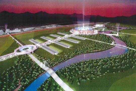 A rendering of the international business and world trade park at Akimel 7.