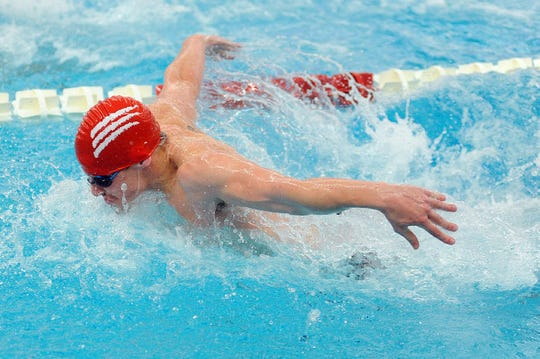 Palmyra grad Joshua Wakefied is the top butterfly racer for the Grove City men's swim team.