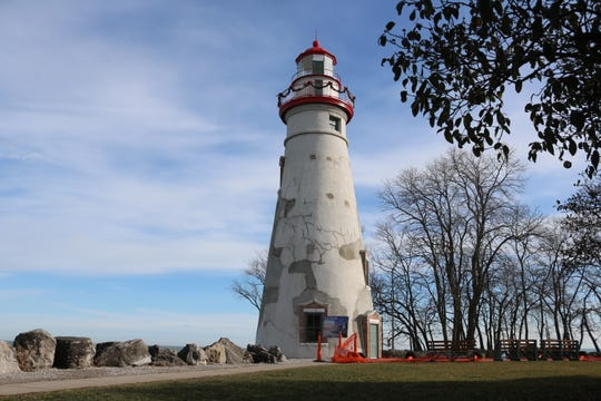 The iconic Marblehead Lighthouse is on full display again.