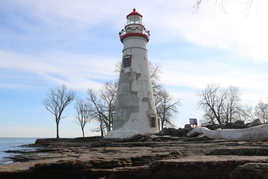 Restoration work on the iconic Marblehead Lighthouse is expected to be completed this spring.