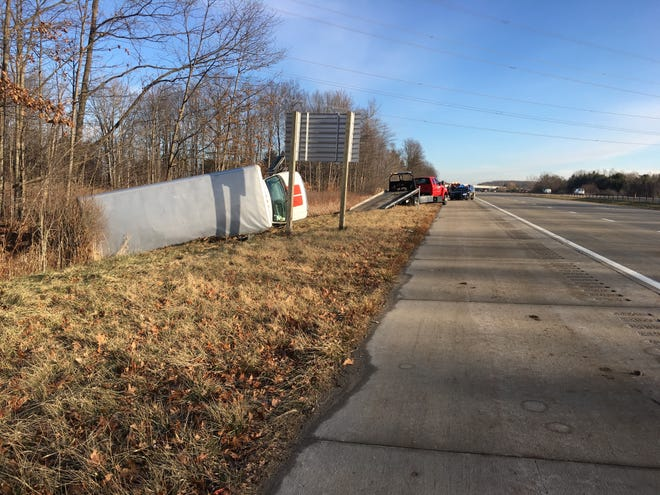 One person was injured in a crash on westbound I-94 in Casco Township Tuesday morning.