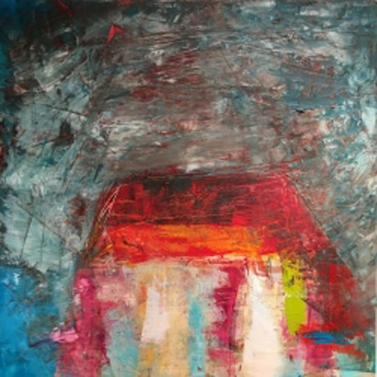 Lisa Pressman exhibits paintings with tactile surfaces in Hot/Cold: Expressions in Wax at Arts Mid-Hudson.