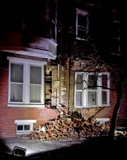 North Belvidere Avenue will be closed until further notice due to a partial building collapse, Monday, January 6, 2020. The building, 666 W. Philadelphia Street, suffered a structural failure and a two-story crack appeared leaving a large pile of bricks on the sidewalk.John A. Pavoncello photo