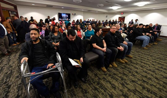 A huge turnout for the first York City Council meeting of the year to see Lou Rivera sworn in, Monday, January 6, 2020. John A. Pavoncello photo