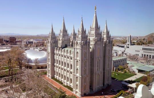 The Salt Lake Temple, in Salt Lake City.