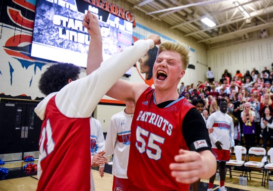 Lincoln's Mitch Eichacker (55) is introduced before the game against Washington on Monday, Jan. 6, 2020 at Washington High School.